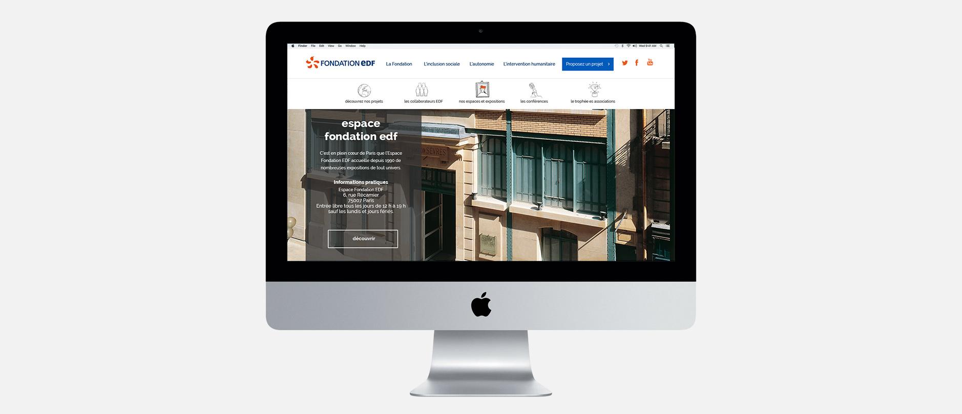 Fondation EDF page intérieure
